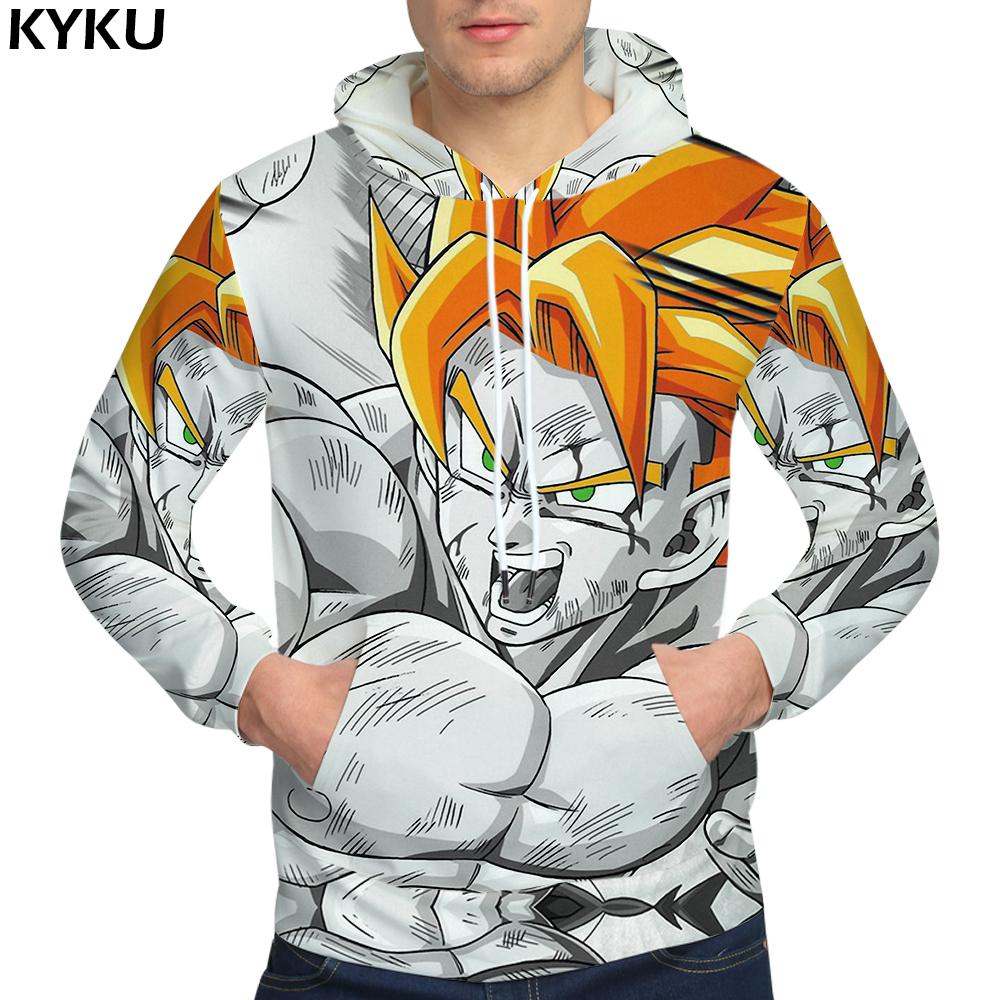 Dragon Ball Goku 3D animated male ferocious Sweatshirts Men's Clothing Hooded Sweat