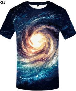Anime Space Nebula Galaxy T shirt punk rock clothing 3d mens shirt