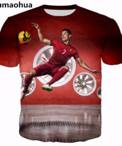 Men Women 3D star Cristiano Ronaldo print casual t-shirt design