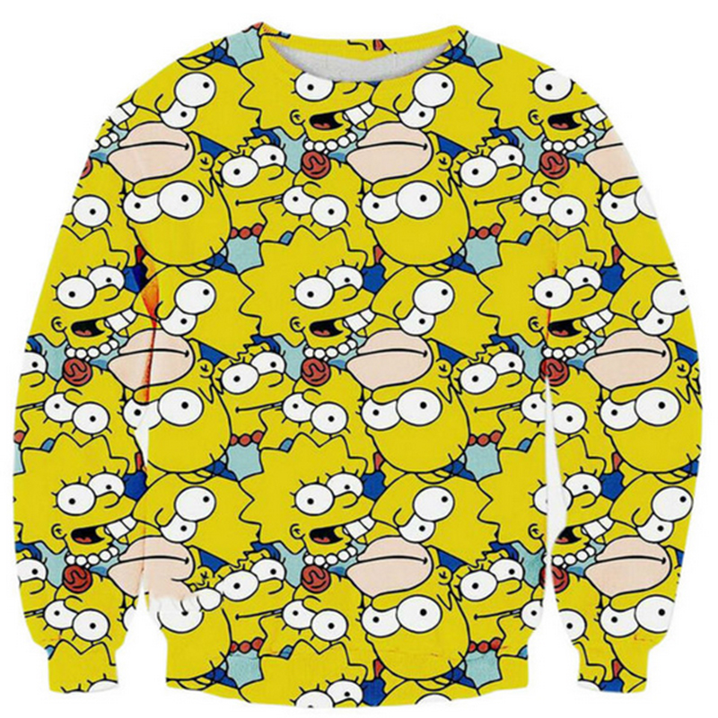 New Fashion Couple Women Men Unisex Bart Simpson 3d Printing Pattern