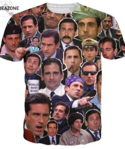 Many Faces Michael Scott T Men women Hip Hop T-shirt tops tees Various