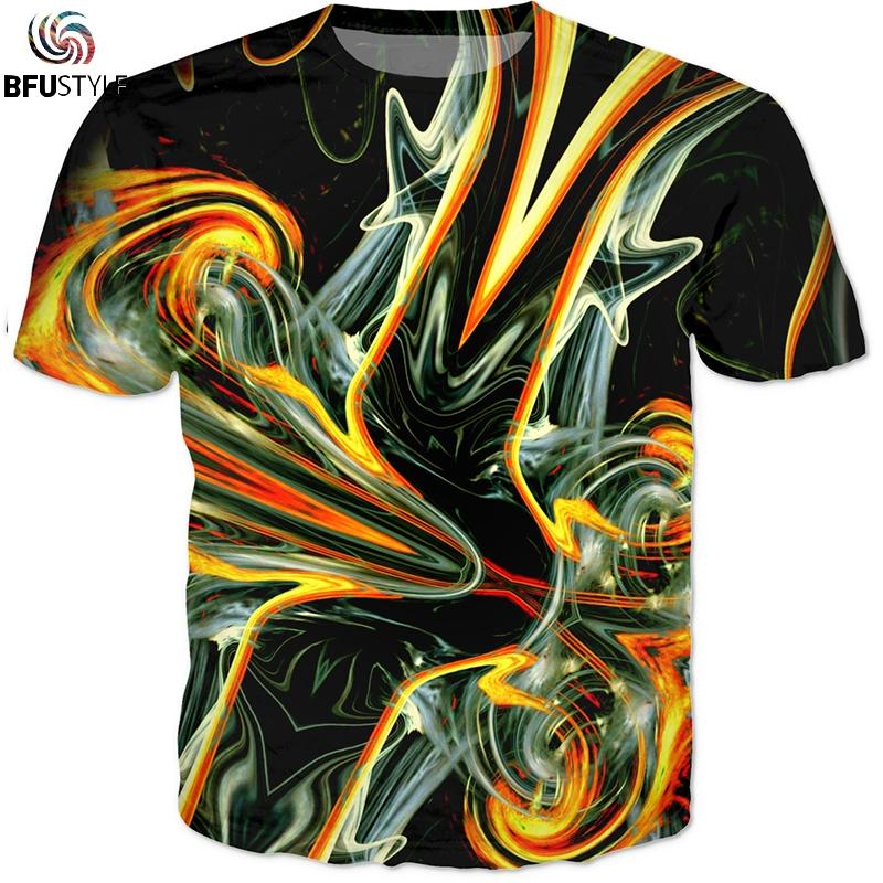 8e5025e729f0 3D animated Dragon Ball Printed T-shirt casual summer men Hip Hop Street  Harajuku pattern