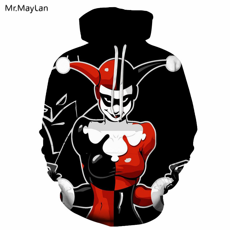 Joker Harley Quinn Badass Movie 3D Printed jacket hoodies Men / Women