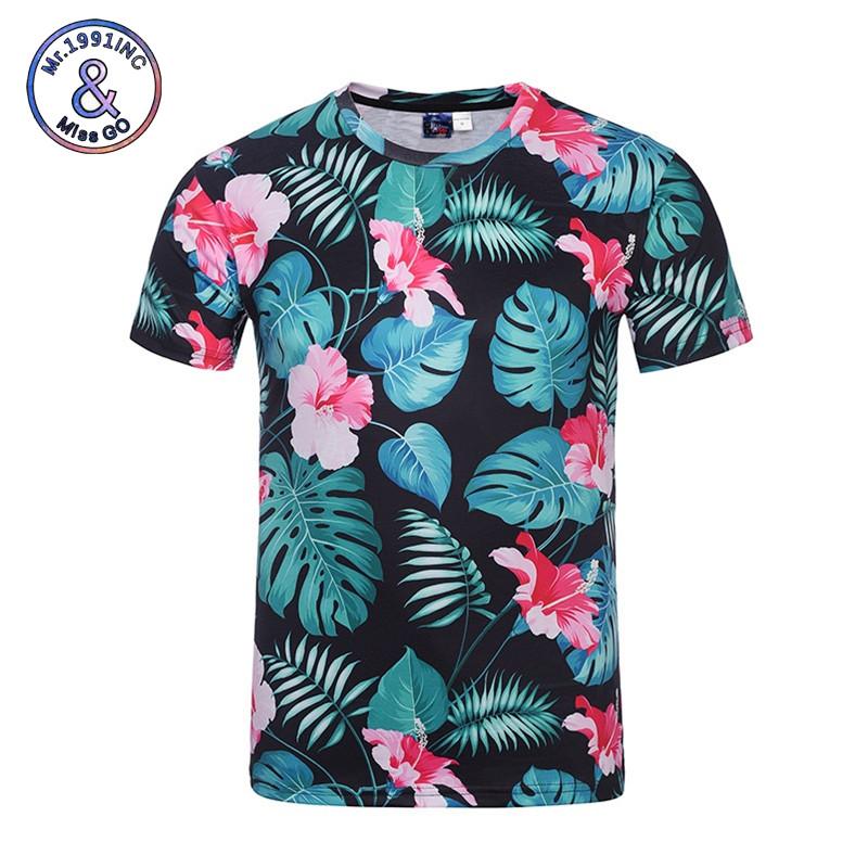 428da8eb4dffa Shirts 2018 Men   Women Summer Tops Tees Print Birds Flowers 3d Men ...