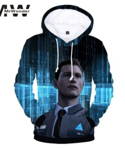 Detroit Hooded sweatshirts are humanized 3D printing RK800 plus size cotton unisex Tops