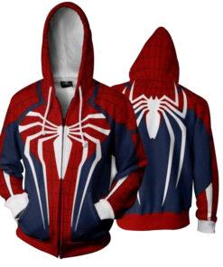 2018 Zipper Men Cosplay Spiderman 3D printing Sportwear Outwear Plus Size 5XL