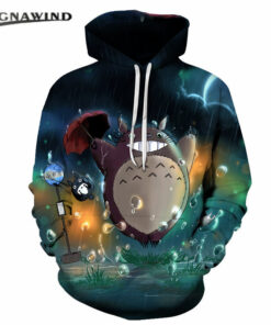 hoodie men / women's casual hooded Totoro animated 3D model printing cartoon