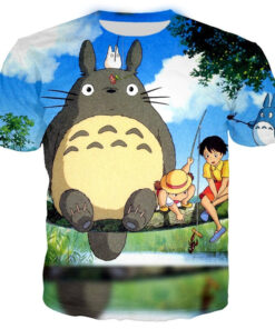3D animated classic T-shirt printing women / men's short sleeve shirt Totoro