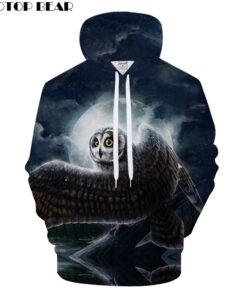 Moon 3D Printed Sweatshit Sweatshirts Man Autumn Winter 2018 Drop Ship ZOOTOP BEAR