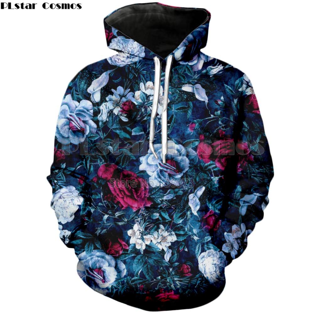 03e9cbe9422d ... Hoodies · Sweatshirts · Contact Us · 2018 Cosmos flowers garden Men  Women Blue Evening Casual 3D Printing