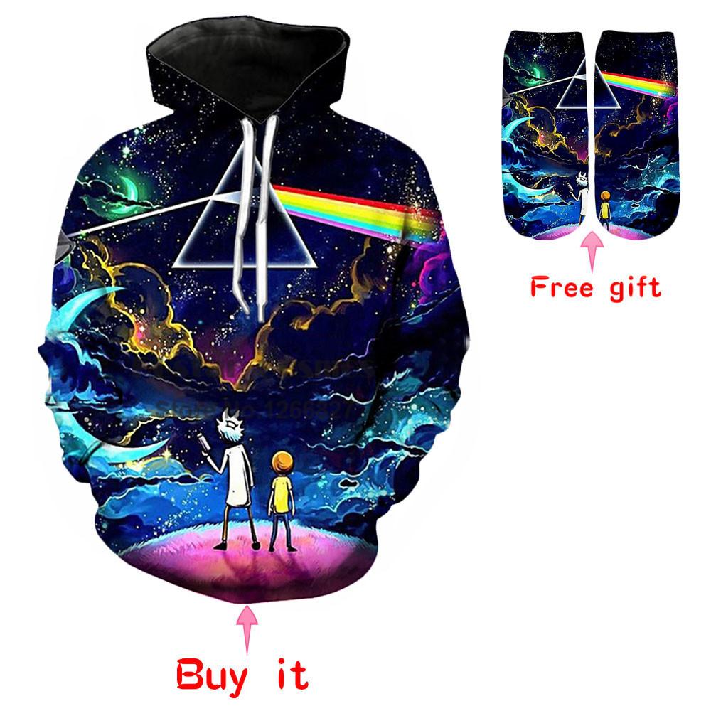 Cosmos hoodies Men Women 3D Print Loose Streetwear hood