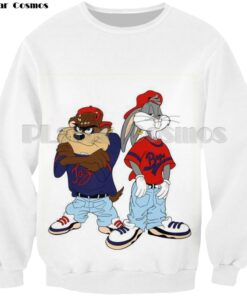 Cosmos funny rabbit errors 3d printing sweatshirt women tops sweatshirt man