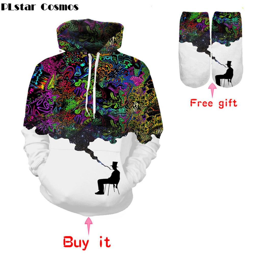 Cosmos old / Women's Hoodie Mens 3D printing slim hooded unisex smoking