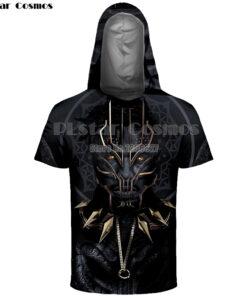 Cosmos Polyester Spandex Men Clothing Black Panther Hooded sweatshirts 3D Printed