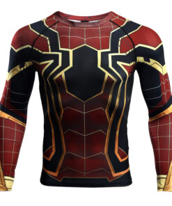 raglan sleeve shirts Spiderman 3D Printed T-shirt Men compression 2018