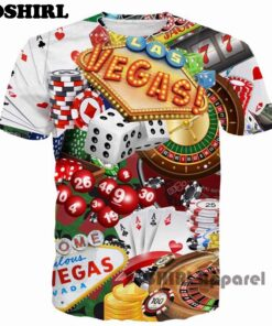 Funny Poker T-Shirt 3D Letter men's shirt Summer Tops US size