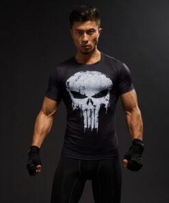 3D short sleeve T Shirt Men Crossfit Tee Captain America Men
