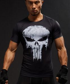 3D BING shirt summer T shirt Crossfit male Tops Print lively Punisher Skull Man