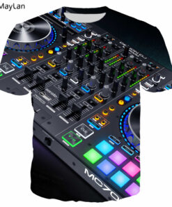 3D Sound Activated LED T shirt printing Flashing Light Up Down equalizer Men