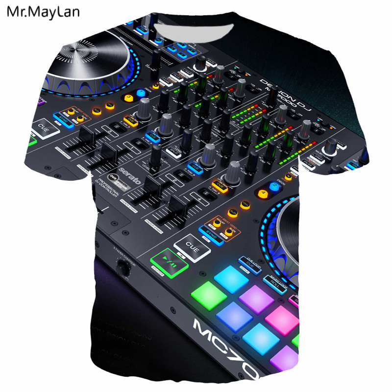 5534dee7b29 3D Sound Activated LED T shirt printing Flashing Light Up Down equalizer Men