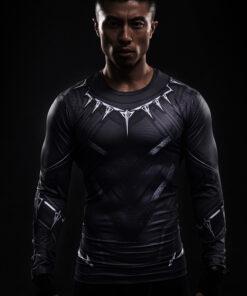 Black Panther superhero 3d printed t shirts long sleeves Cosplay
