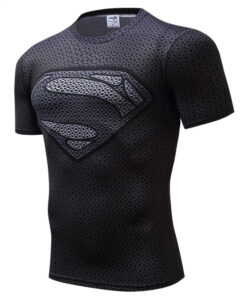 Superman T-shirts Men's Compression Tops Batman T-shirts Flash