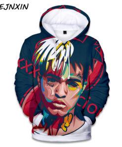 Xxxtentacion rapper 3D printing Hip Hop Hoodie Hooded Plus Size