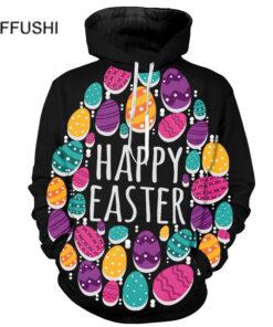 2018 Egg Man unique colorful print Pullover Sweatshirts Streetwear men 3d Easter