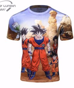 Men's T Shirt 3D Ultra Dragon Ball Z Goku Super Saiyan instincts Blue God
